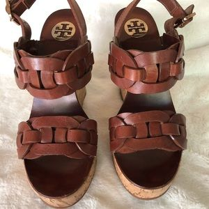 Tory Burch pretty brown color wedge sandal